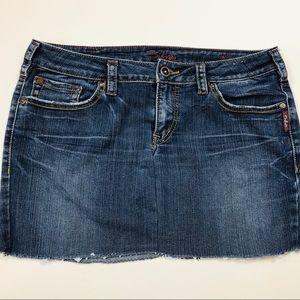 Silver jeans skirt AIKO size 32/33 dark wash